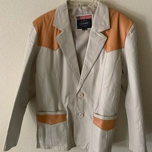 USA Suits & Blazers - Vintage Western Blazer Leather Skin Coat